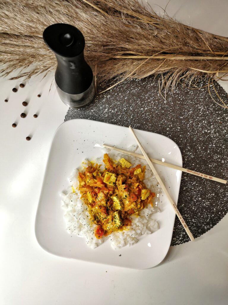 tofu curry przepis