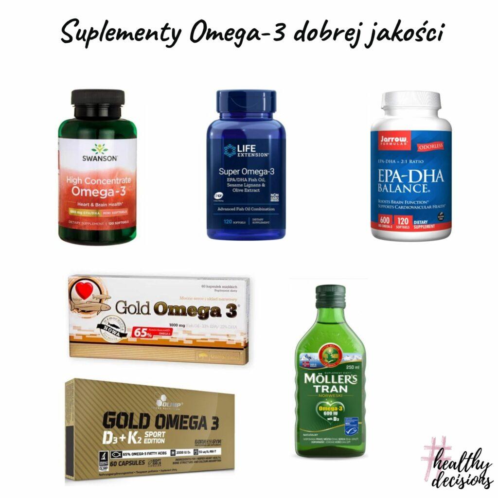 Suplementy omega-3 dobrej jakości