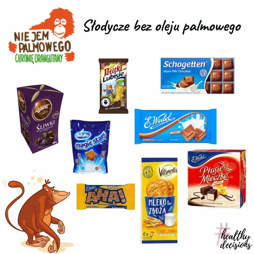 Słodycze bez oleju palmowego