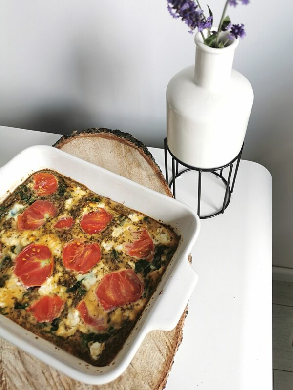 Frittata przepis ze szpinakiem i serem