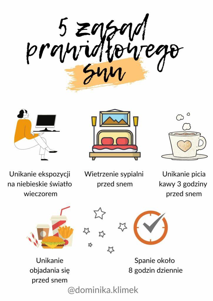 5 zasad prawidłowego snu