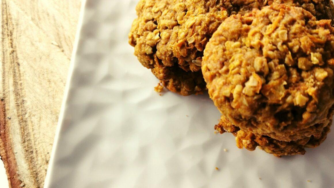 Ciasteczka marchewkowo-owsiane