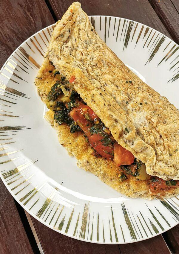 Omlet z warzywami na sycące śniadanie! #zerowaste