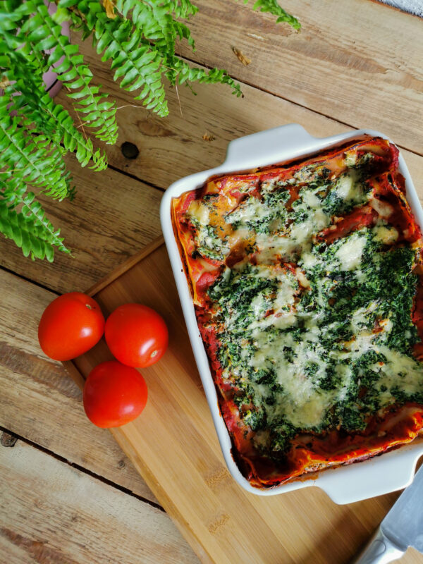 Lasagne ze szpinakiem i ricottą – pomysł na obiad!