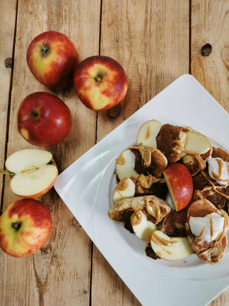 racuchy z jabłkami dla osób z insulinoopornością, niskie ig