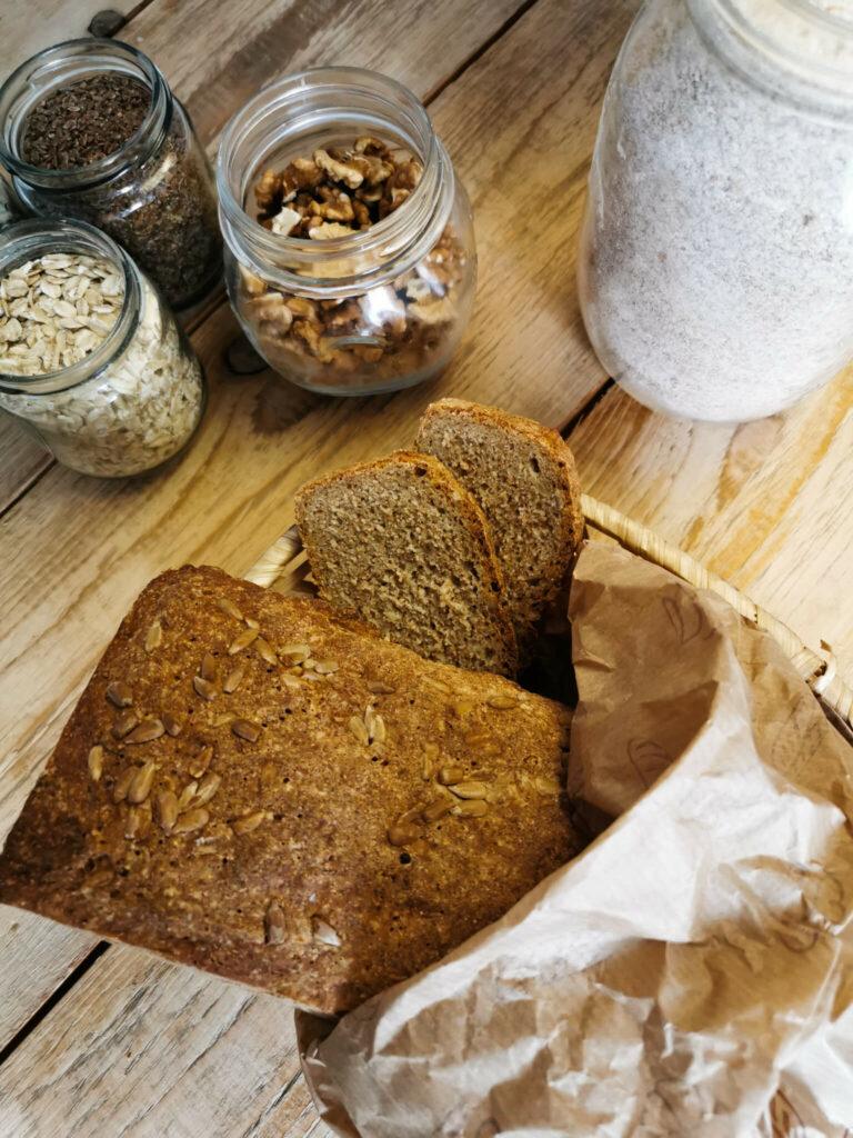 przepis na chleb razowy z niskim ig - pychota