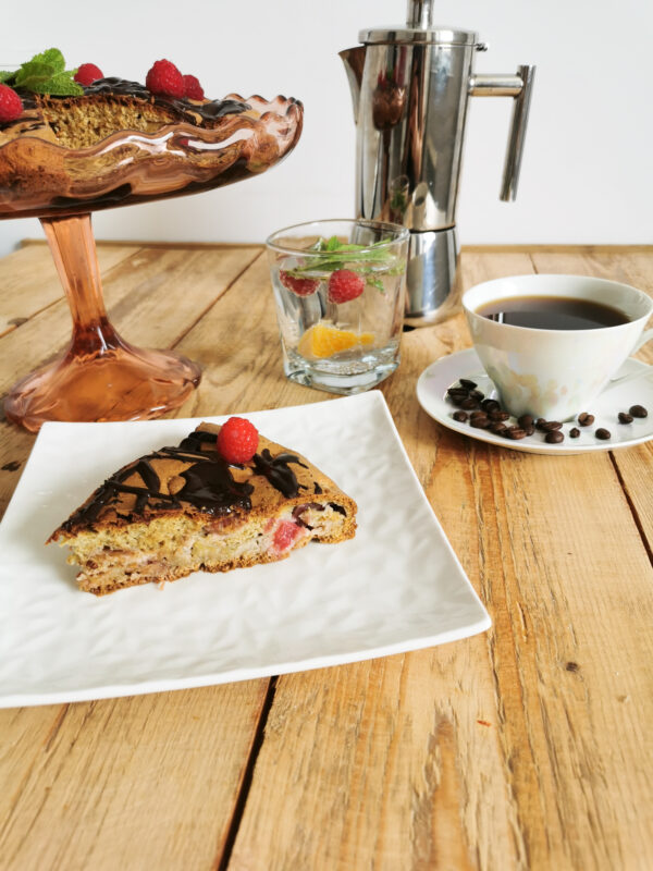Ciasto rabarbarowe przepis niskokaloryczny z malinami!
