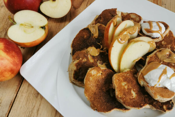 Racuchy z jabłkiem na deser dla osób z insulinoopornością | niskie IG