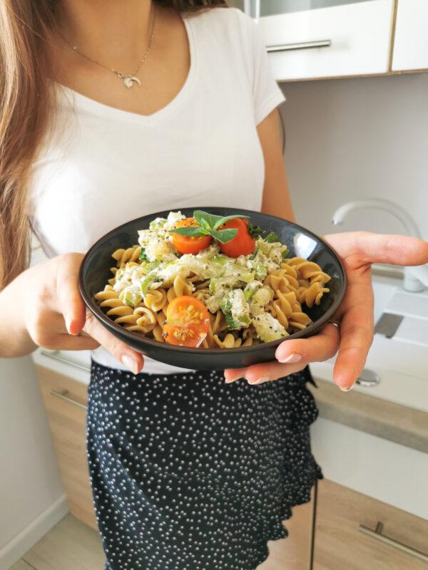 Makaron z cukinią i ricottą na pyszny i niskokaloryczny obiad!