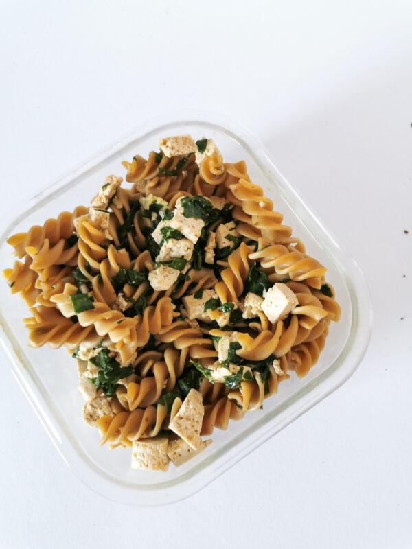 Przepis na makaron ze szpinakiem i tofu [niskie ig]